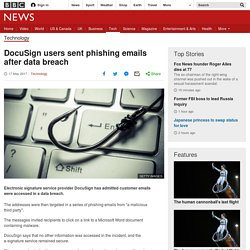 DocuSign users sent phishing emails after data breach