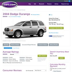 2004 Dodge Durango Consumer Reviews