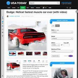 Dodge: Hellcat fastest muscle car ever (with video)