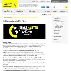 Fakta om dödsstraffet 2014 Dödsstraffet Mänskliga rättigheter Amnesty