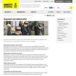 Argument mot dödsstraffet Dödsstraffet Mänskliga rättigheter Amnesty