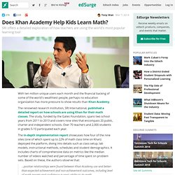 Does Khan Academy Help Kids Learn Math?