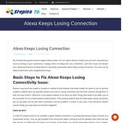 Alexa Keeps Losing Connection