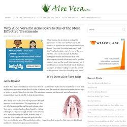 Does Aloe Vera Help Acne Scars