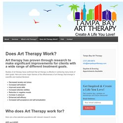 Does Art Therapy Work? - Tampa Bay Art Therapy