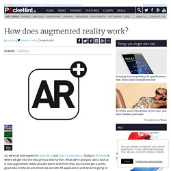 How does augmented reality work?