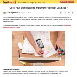 Does Your Brand Need to Implement Facebook Lead Ads?