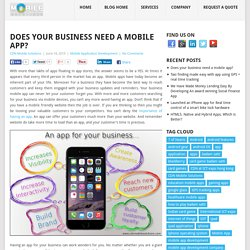 Should I Develop a Mobile App For My Business?