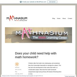 Does your child need help with math homework?
