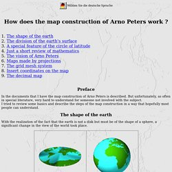 How does the map construction of Arno Peters work ?