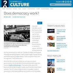 Does democracy work?