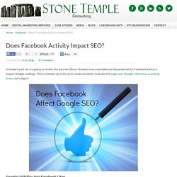 Does Facebook Activity Impact SEO?