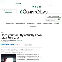 Does your faculty actually know what OER are? - eCampus News