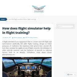 How does flight simulator help in flight training?