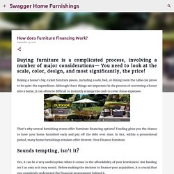 How does Furniture Financing Work?