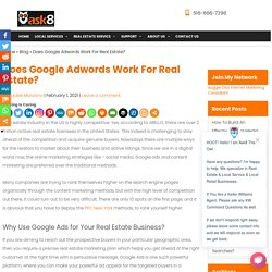 Does Google Adwords Work For Real Estate?