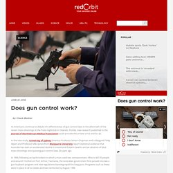 Does gun control work? - Redorbit