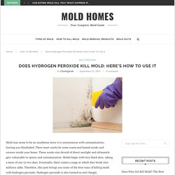 Does Hydrogen Peroxide Kill Mold: Here's How To Use It