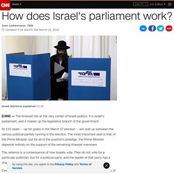 How does Israel's parliament work?