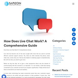 How Does Live Chat Work? A Comprehensive Guide