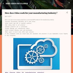 How does Odoo work for your manufacturing Industry?