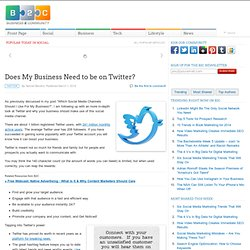 Does My Business Need to be on Twitter?