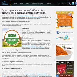 SEATTLE ORGANIC RESTAURANTS - JUILLET 2013 - Does organic mean non-GMO and is organic food safer and more nutritious?