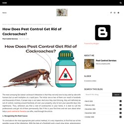 How Does Pest Control Get Rid of Cockroaches?