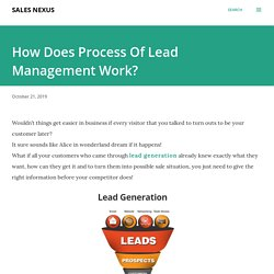 How Does Process Of Lead Management Work?