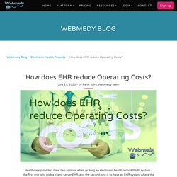 How does EHR reduce Operating Costs?