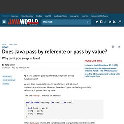 Does Java pass by reference or pass by value?