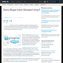 Does Skype have Groupon envy?