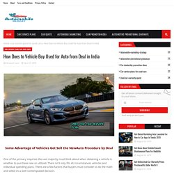 How Does to Vehicle Buy Used for Auto from Deal in India