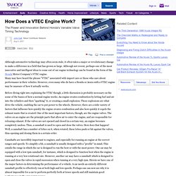 How Does a VTEC Engine Work?