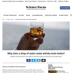 Why does a drop of water make whisky taste better?