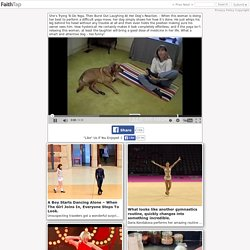 Dog Does Yoga Workout With Woman