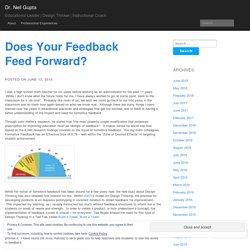 Does Your Feedback Feed Forward?