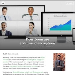 Does Zoom use end-to-end encryption?
