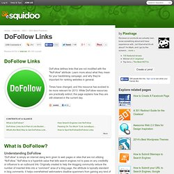 DoFollow: Increase Your Backlinks with DoFollow Sites