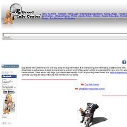 Dog Breed Info Center®, DBI