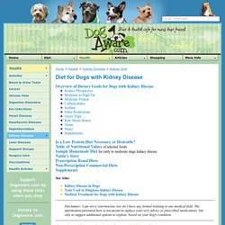 DogAware.com Health: Diet for Dogs with Kidney Disease