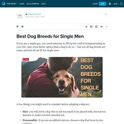 Best Dog Breeds for Single Men : dogexpressusa — LiveJournal