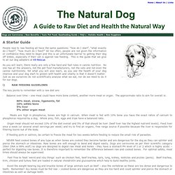 Raw Fed Dogs - Natural Prey Model Rawfeeding Diet