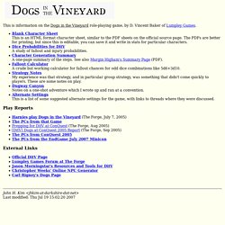 Dogs in the Vineyard Notes