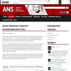 Anne Dohmen interim-hoofdredacteur Vox