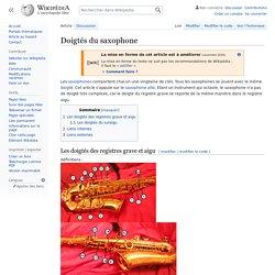 Doigtés du saxophone