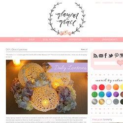 DIY | Doily Lantern | Glamour and Grace