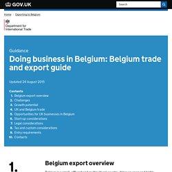 Doing business in Belgium: Belgium trade and export guide