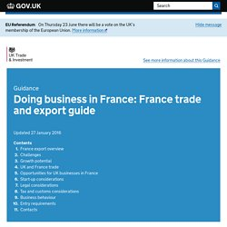 Doing business in France: France trade and export guide