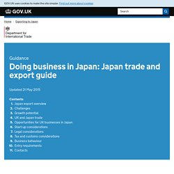 Doing business in Japan: Japan trade and export guide